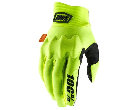 100% Cognito D30 Full Finger Gloves (Fluo Yellow/Black) (L)