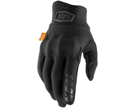100% Cognito Full Finger Gloves (Black/Charcoal) (L)