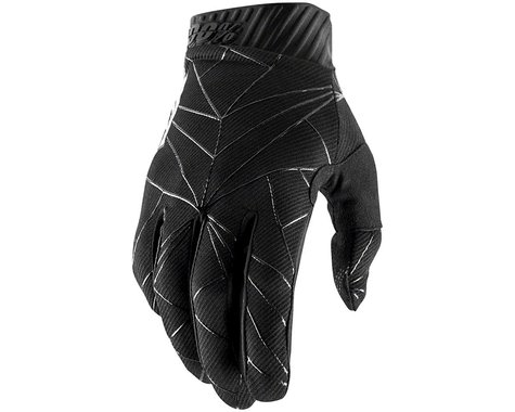 100% Ridefit Full Finger Glove (Black)
