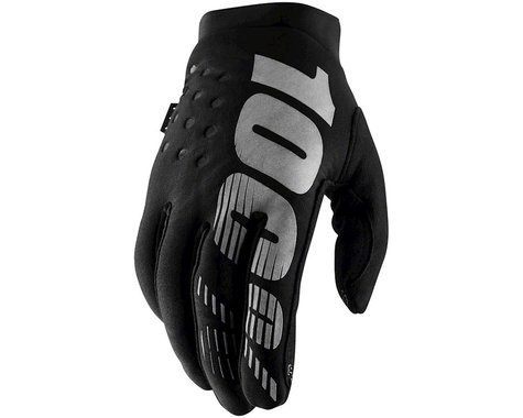 100% Brisker Gloves (Black) (S)