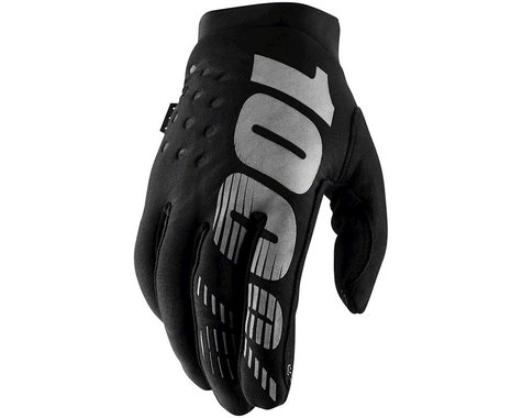 100% Brisker Gloves (Black) (XL)