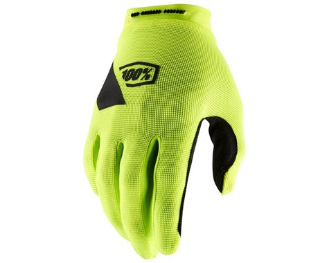 100% Ridecamp Gloves (Fluo Yellow) (M)