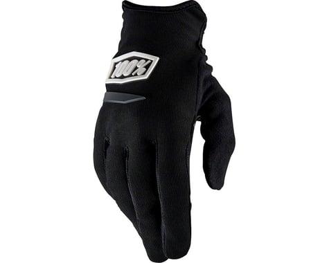 100% Ridecamp Women's Full Finger Glove (Black)