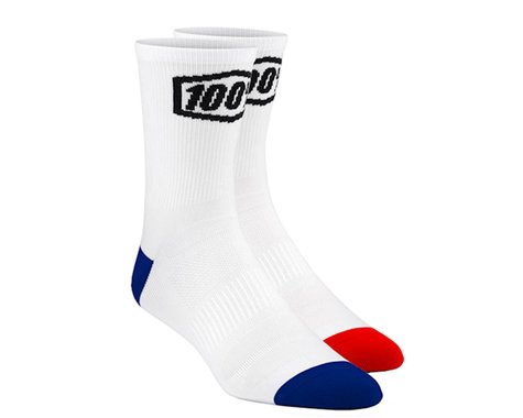 100% Terrain Socks (White) (S/M)