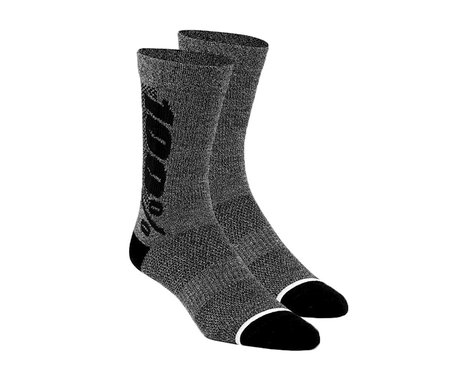 100% Rythym Merino Socks (Charcoal Heather) (L/XL)