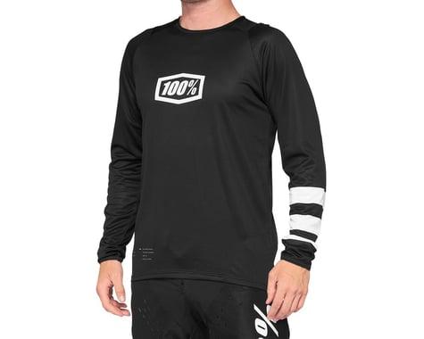 100% R-Core Jersey (Black/White) (XL)