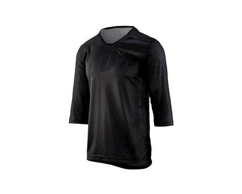 100% Airmatic Men's 3/4 Sleeve MTB Jersey (Black)