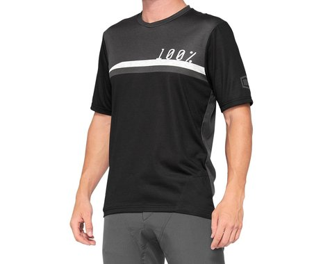 100% Airmatic Jersey (Black/Charcoal) (XL)