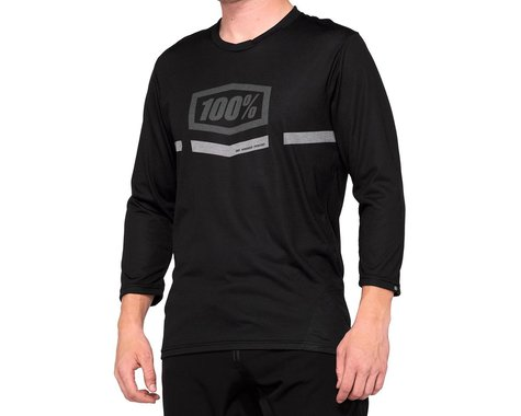 100% Airmatic 3/4 Sleeve Jersey (Black) (L)
