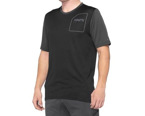 100% Ridecamp Men's Short Sleeve Jersey (Charcoal/Black) (L)