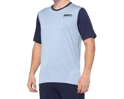 100% Ridecamp Men's Short Sleeve Jersey (Light Slate/Navy) (L)