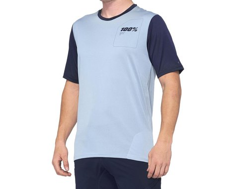 100% Ridecamp Men's Short Sleeve Jersey (Light Slate/Navy) (XL)