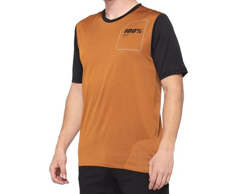 100% Ridecamp Men's Short Sleeve Jersey (Terracotta/Black) (XL)
