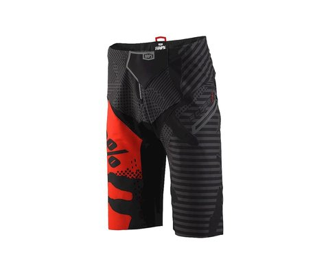 100% R-Core X DH Shorts (Black Camo/Red)
