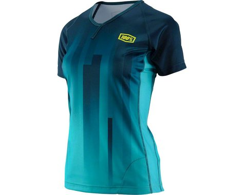 100% Airmatic Women's MTB Jersey (Forest Green)
