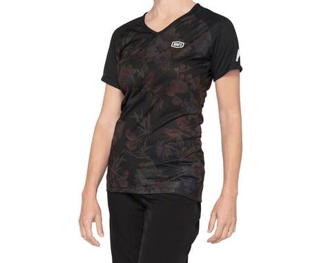 100% Women's Airmatic Jersey (Black Floral) (XL)