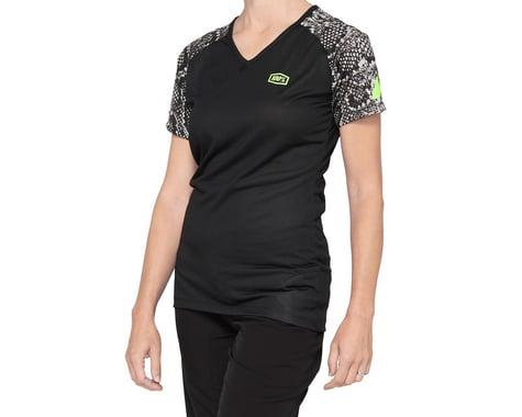 100% Women's Airmatic Jersey (Black Python) (XL)