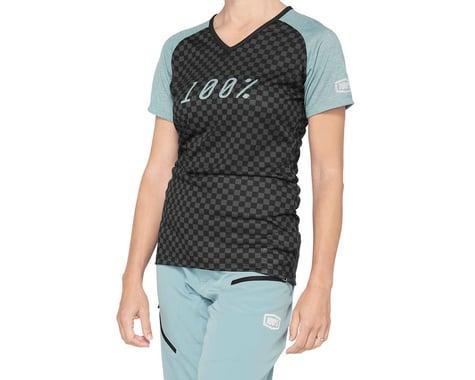 100% Women's Airmatic Jersey (Seafoam Checkers) (L)