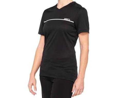 100% Women's Ridecamp Jersey (Black) (L)
