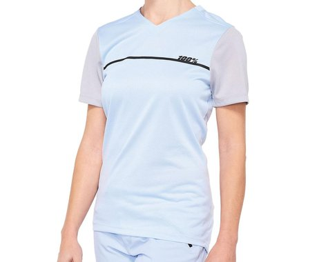 100% Ridecamp Women's Jersey (Powder Blue) (XL)