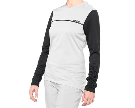 100% Ridecamp Women's Long Sleeve Jersey (Grey/Black) (S)