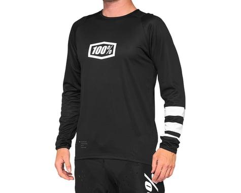 100% R-Core Youth Jersey (Black/White) (L)