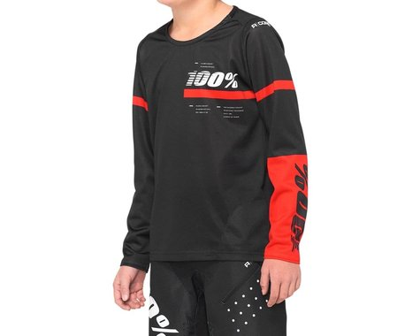 100% R-Core Youth Jersey (Black) (L)