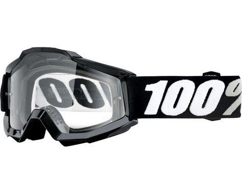 100% Accuri OTG Goggle (Black Tornado) (Clear Lens) (For Use Over Glasses)