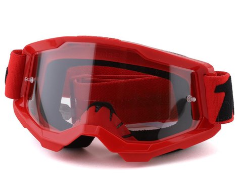 100% Strata 2 Goggles (Red) (Clear Lens)