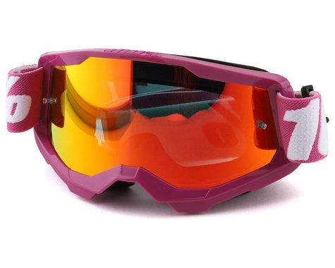 100% Strata 2 Goggles (Fletcher) (Mirror Red Lens)
