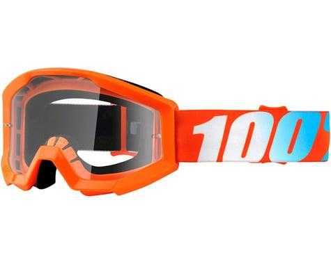100% STRATA JR Goggles (Orange) (Clear Lens)