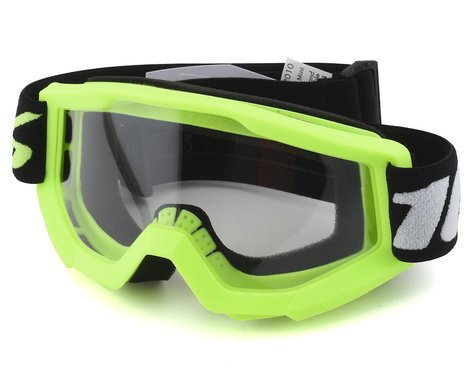 100% Strata Mini MX Goggles (Yellow) (Clear Lens)