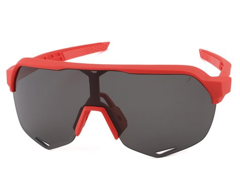 100% S2 Sunglasses (Soft Tact Coral) (Smoke Lens)