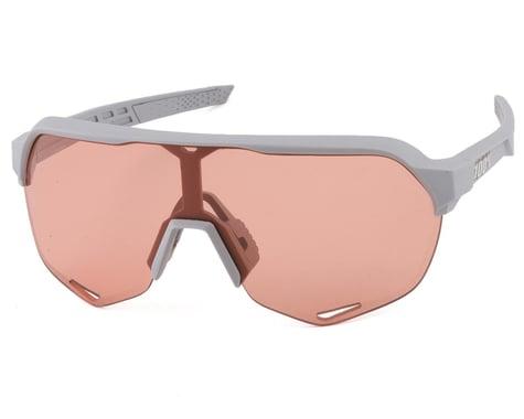 100% S2 Sunglasses (Soft Tact Stone Grey) (HiPER Coral Lens)