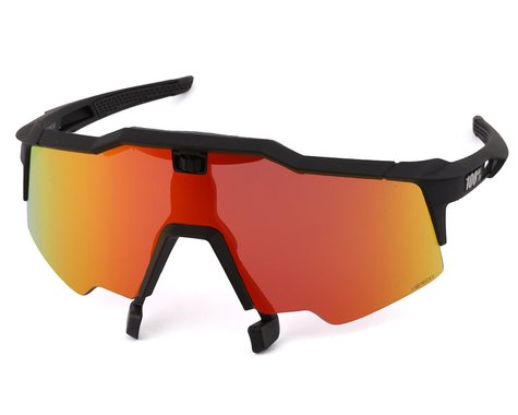 100% Speedcraft Air Sunglasses (Soft Tact Black) (HiPER Red Multilayer Mirror)