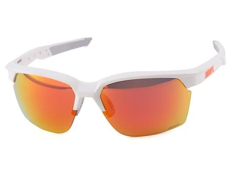 100% Sportcoupe Sunglasses (Matte White) (HiPER Red Multilayer Mirror Lens)