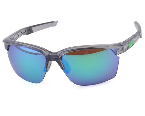 100% Sportcoupe Sunglasses (Polished Translucent Crystal Grey)