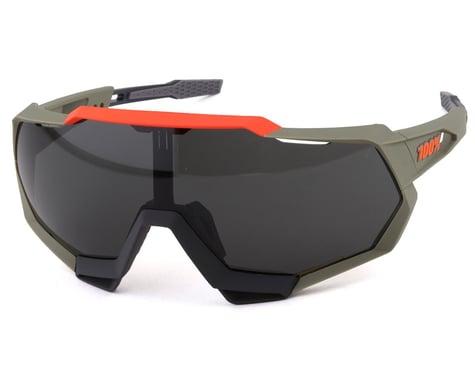 100% Speedtrap Sunglasses (Soft Tact Quicksand) (Smoke Lens)