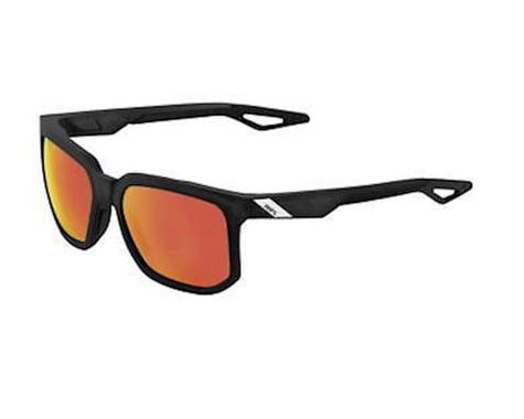 100% Centric Sunglasses (Matte Crystal Black/HiPER Red Multilayer Mirror)
