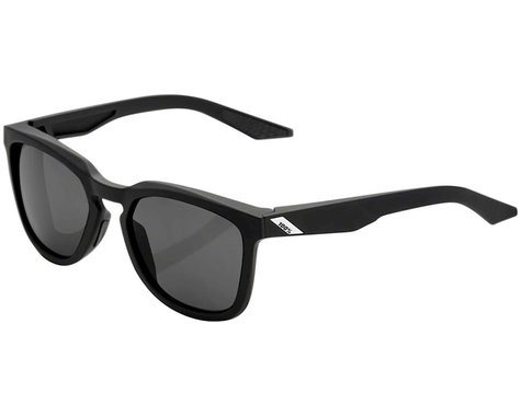 100% Hudson Sunglasses (Soft Tact Black) (Smoke Lens)