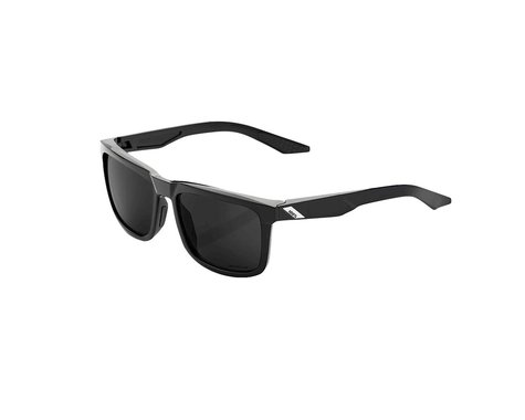 100% Blake Sunglasses (Polished Black) (Grey PEAKPOLAR lens)