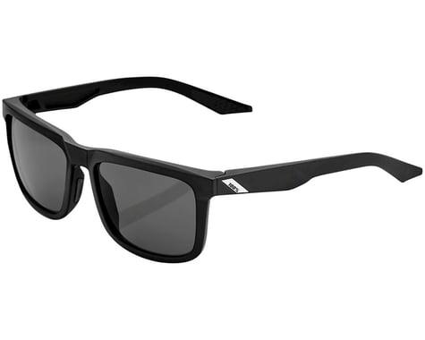 100% Blake Sunglasses (Soft Tact Black) (Smoke Lens)