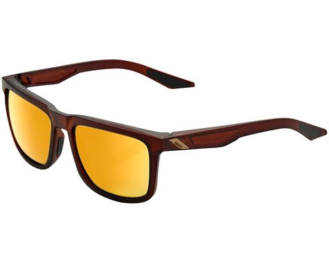 100% Blake Sunglasses (Soft Tact Rootbeer) (Flash Gold Lens)