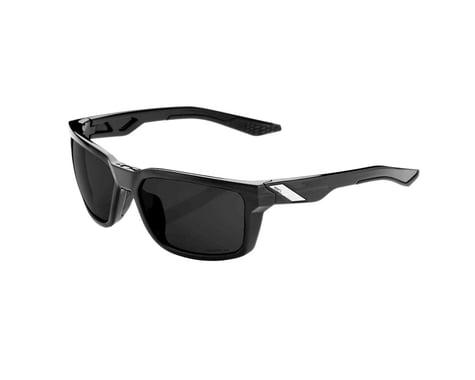 100% Daze Sunglasses (Polished Black) (Grey PEAKPOLAR Lens)
