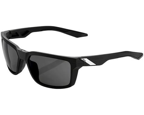100% Daze Sunglasses (Soft Tact Black) (Smoke Lens)