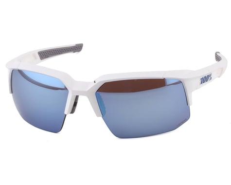 100% Speedcoupe Sunglasses (Matte White) (HiPER Blue Multilayer Mirror Lens)
