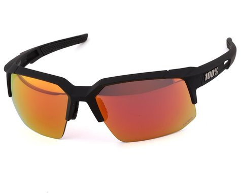 100% Speedcoupe Sunglasse (Soft Tact Black) (HIPER Red Multilayer Mirror Lens)