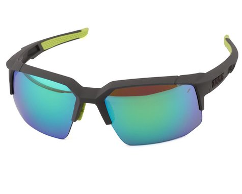 100% Speedcoupe Sunglasses (Soft Tact Cool Grey) (Green Multilayer Mirror Lens)