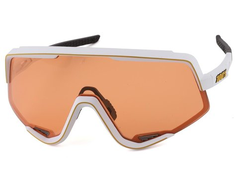 100% Glendale Sunglasses (Soft Tact Off White) (Soft Persimmon Lens)