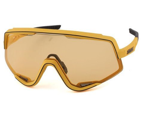 100% Glendale Sunglasses (Soft Tact Mustard) (Soft Yellow Lens)
